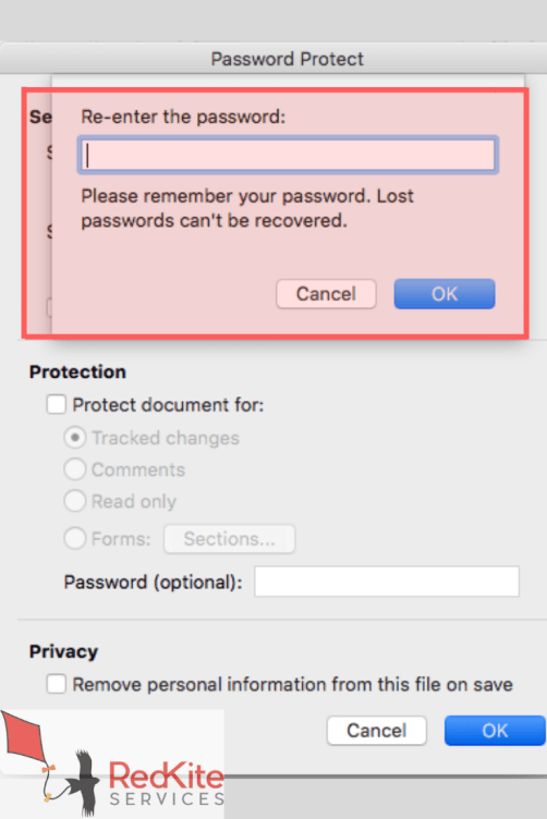 how to password protect a word document 2003