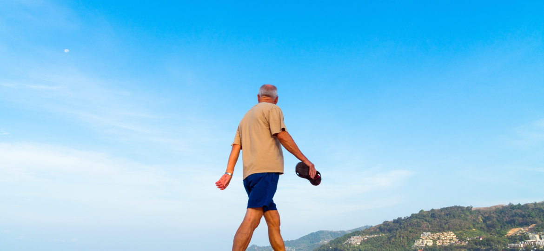 Canva - An Old Man Walking