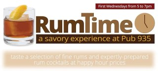 Rum Time - first Wednesdays from 5 to 7pm at Pub 935