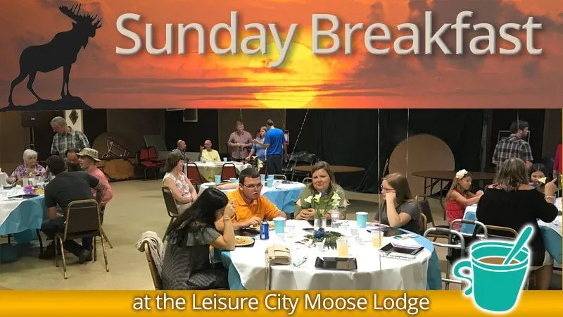 Sunday Breakfast at the Leisure City Moose Lodge
