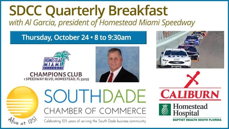 South Dade Chamber of Commerce quarterly breakfast with Al Garcia