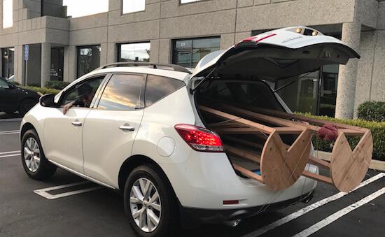 Car Holding Tree Frame
