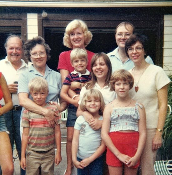 Red Lantern Family Photo