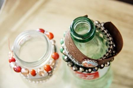 Glass Bottle Bracelet Holders   redleafstyle.com