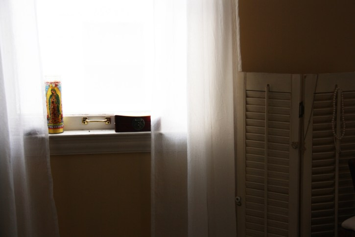 Sunny windowsill.