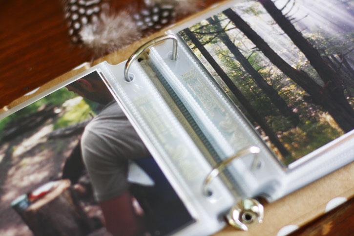 Scrapbooking Fun: Mini Camping Photo Album | redleafstyle.com