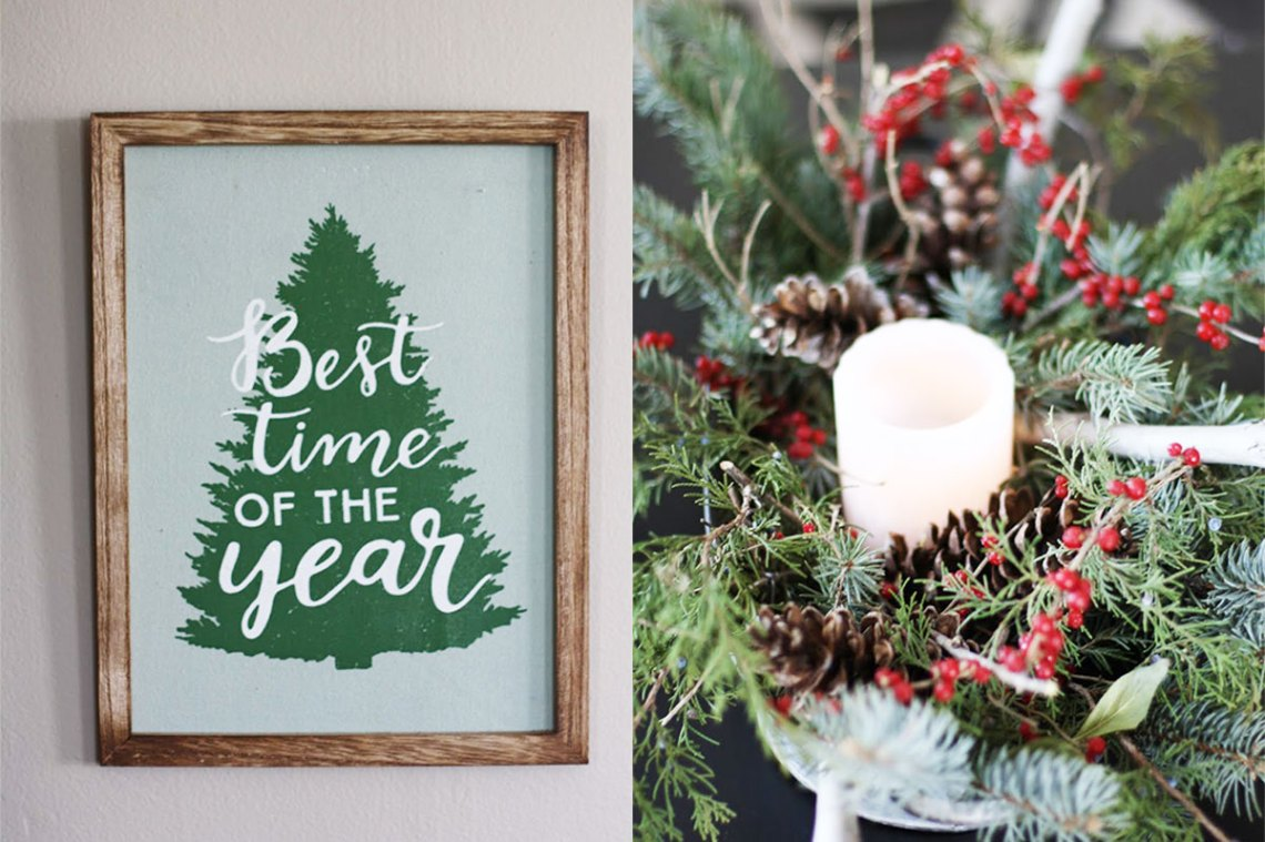 Tour a Stylish Victorian Decked Out With Natural Christmas Decorations | redleafstyle.com