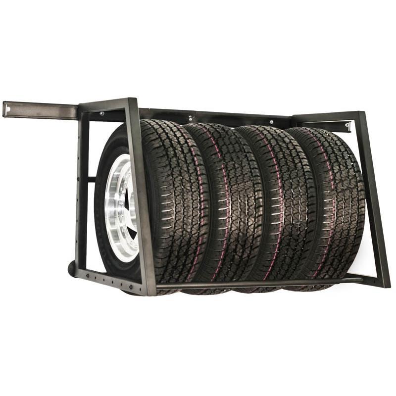 towrax adjustable garage wall trailer tire rack