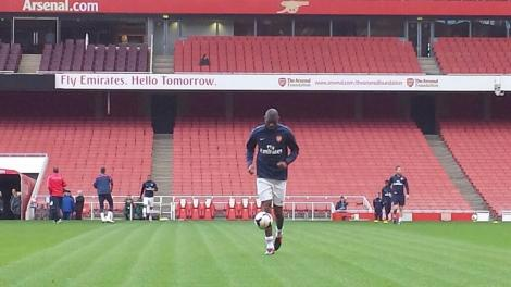 diaby on training