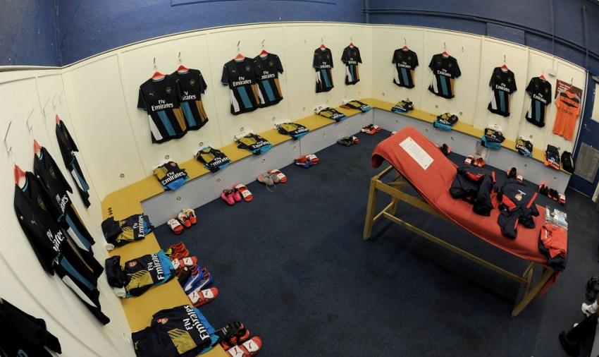 Away Gunner dressing room