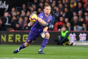 Bernd Leno posts a message after playing in Chelsea game
