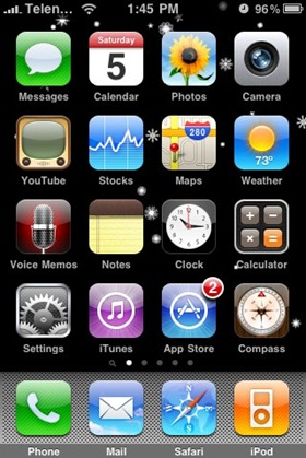 Snow Background for iPhone