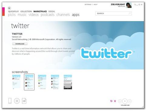 Twitter on Zune HD