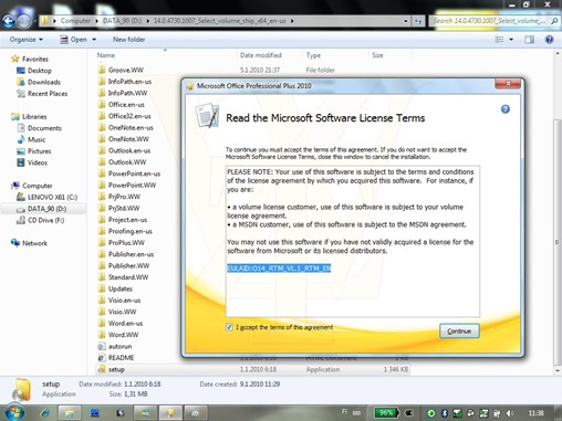 Office 2010 RTM Build 14.0.4730.1007
