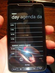 Windows Phone 7 on HTC HD2