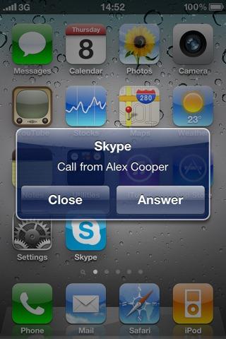 Skype  for iOS 4