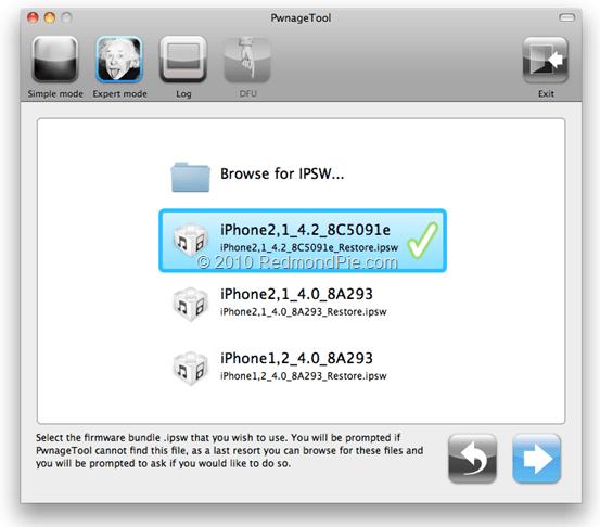 JailbreakiOS4.2oniPhone3GS1 Realiza el Jailbreak a la beta de iOS 4.2 con PwnageTool