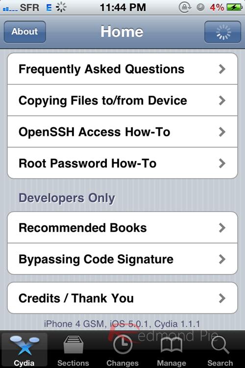 Jailbreak iOS 5.0.1