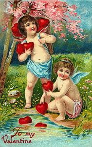 VALENTINE'S DAY CARD FROM THE 1800S
