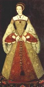 Catherine Parr wearing a Farthingale.