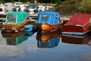 Watercolor Boats by Jan Hebel