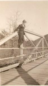 Daddy on a bridge!