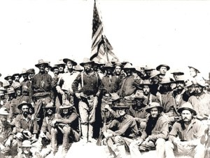 Teddy Roosevelt atop San Juan Hill