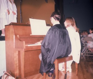Beatles hair, piano, graduation...what's not to like?