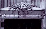 purple casket