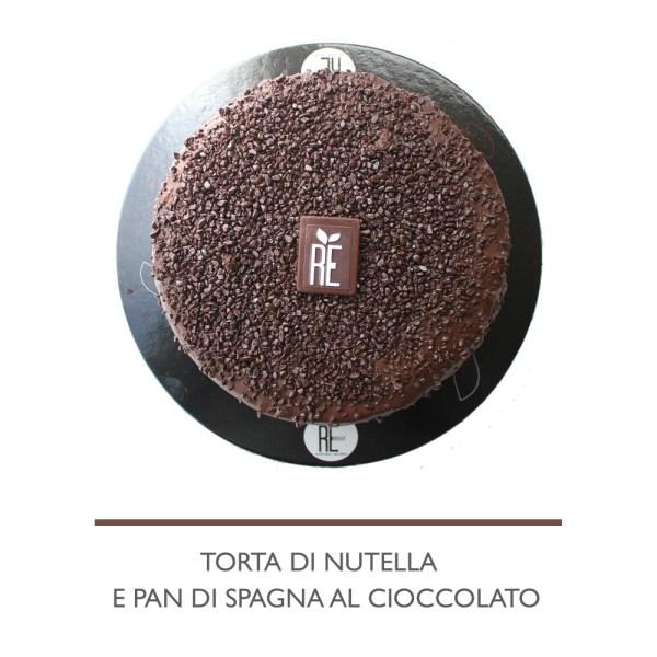 TORTA DI NUTELLA E PAN DI SPAGNA AL CIOCCOLATO 1KG