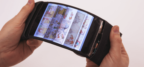 Researchers have developed the first-ever bendable smartphone