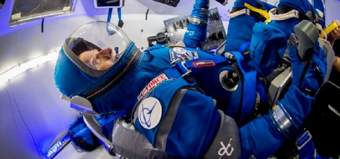 Boeing shows off slick new 'Boeing Blue' spacesuits