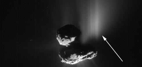 Scientists capture first-ever evidence of landslide on a comet