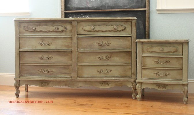 Dresser and nightstand afer