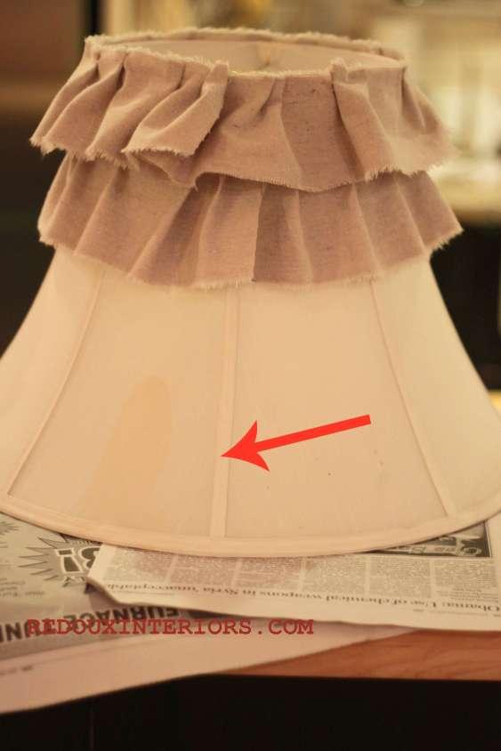 Ruffled Lamp Shade Halfway