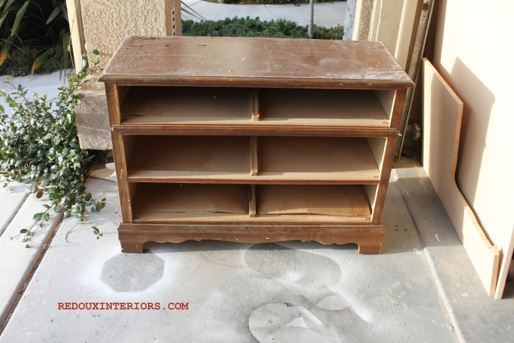 Dresser without drawers