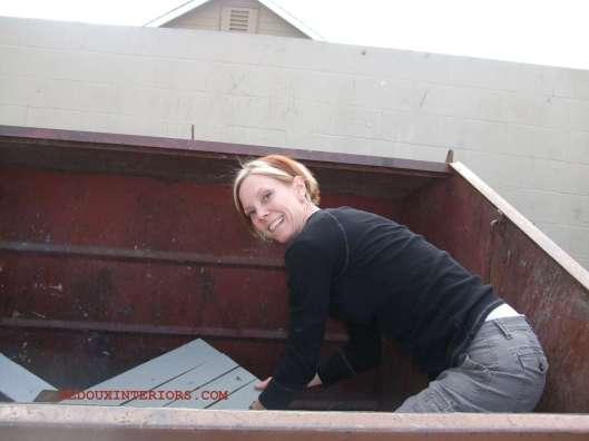 Stuck in Dumpster