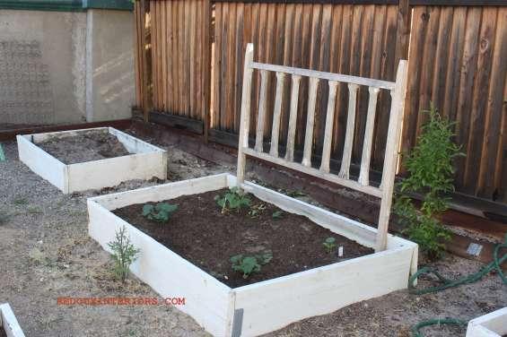 Garden with junk