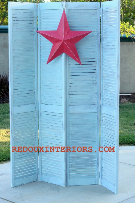 Shutters in Blue after