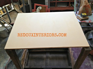 MDF on table before