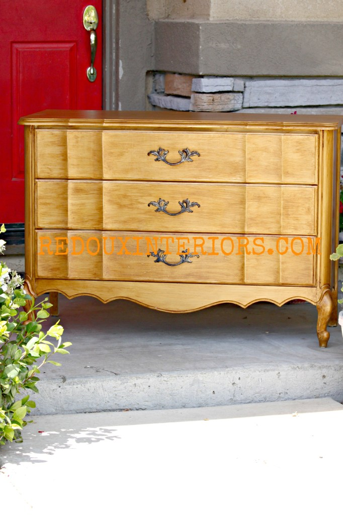 Gold and Glazed French Dresser Full Redouxinteriors