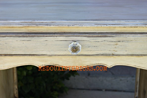 French Glazed Desk drawer redouxinteriors