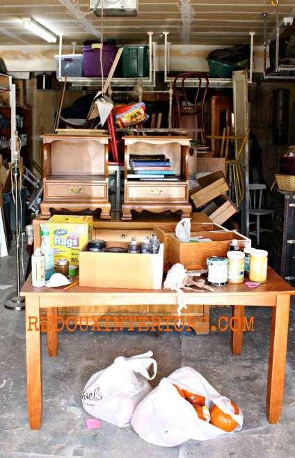 Garage full of furniture redouxinteriors