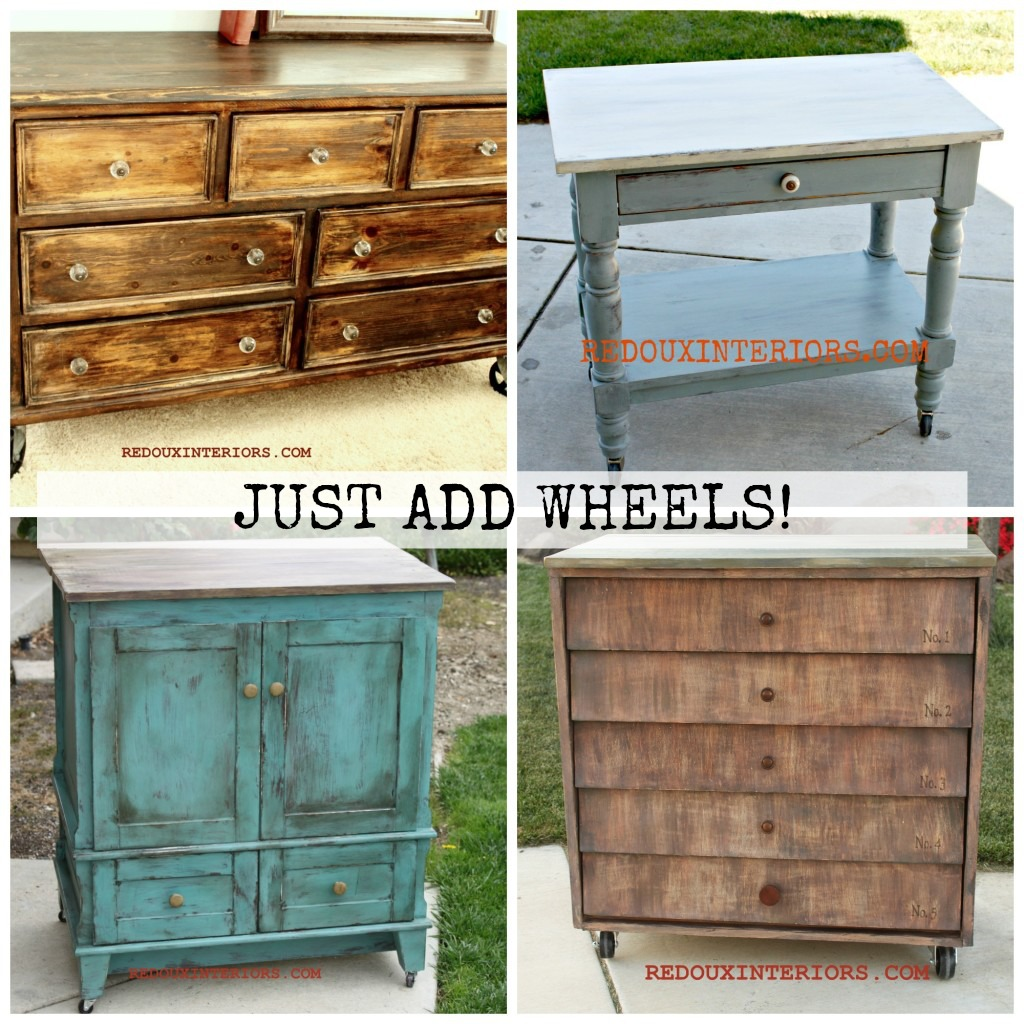 Furniture With Wheels 2 Redouxinteriors