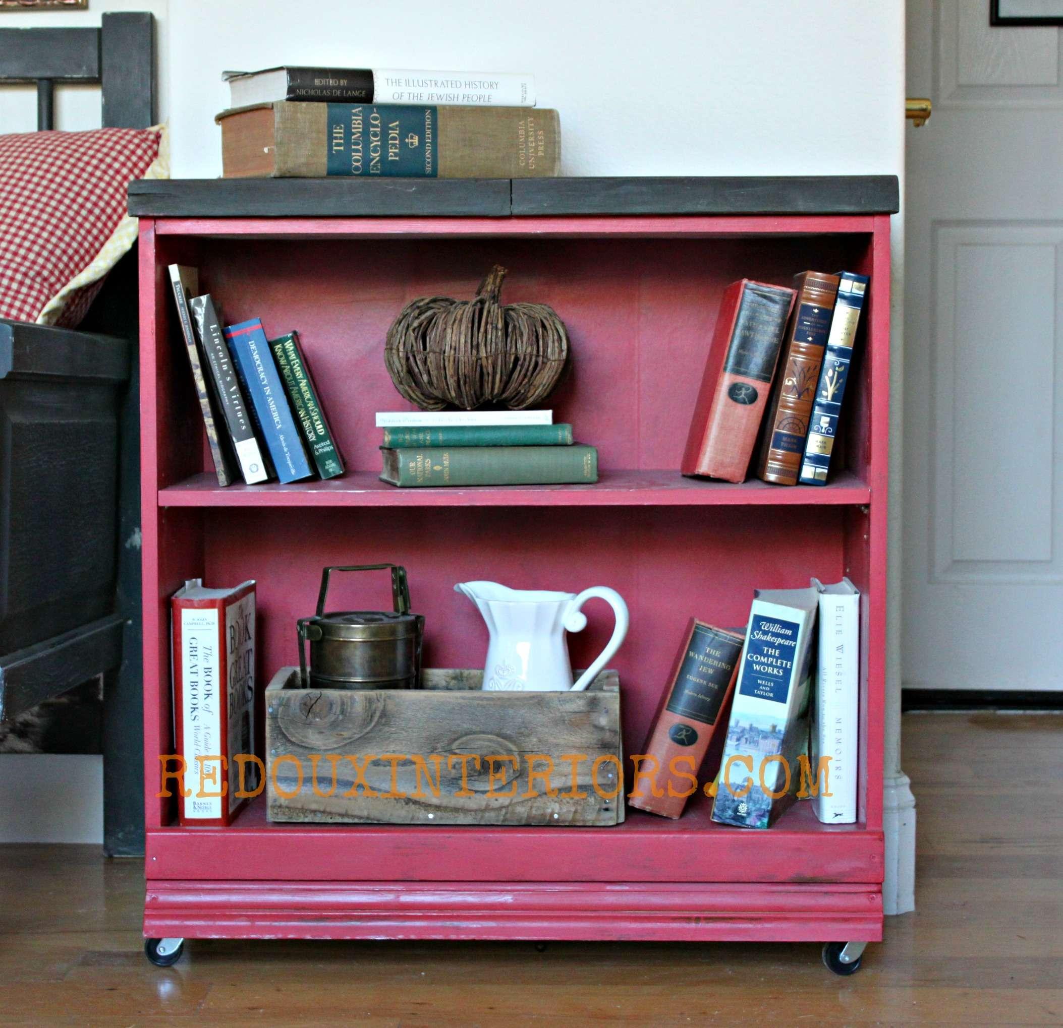 cheap bookshelf makeover