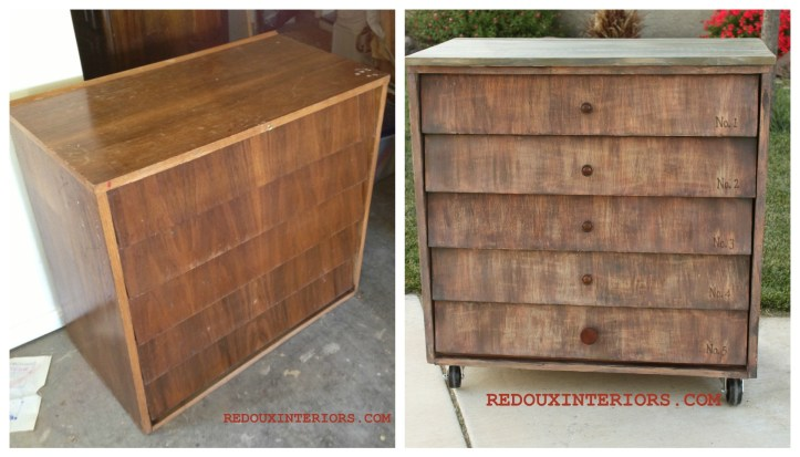 Anthro Inspired Dresser Before and After Redouxinteriors