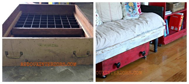 Dumpster Drawer to Shoe Organizer Redouxinteriors