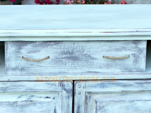 Drawer pulls with rope on dumpster drawer redouxinteriors