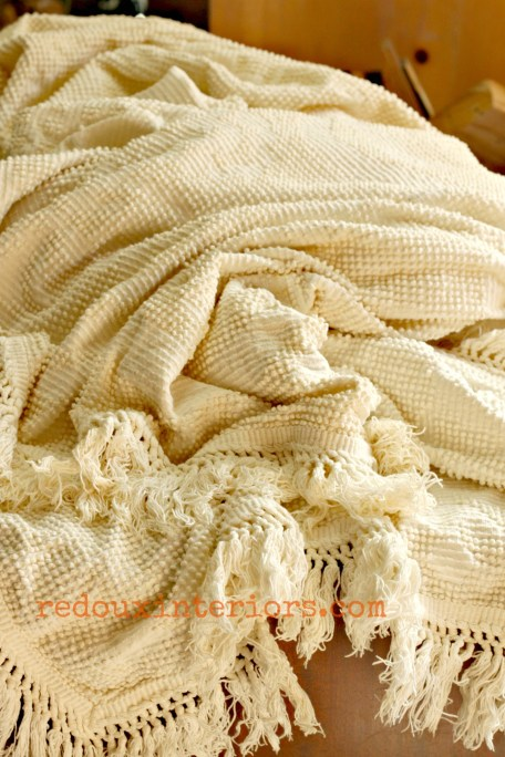 chenille bedspread dumpster save redouxinteriors - Copy