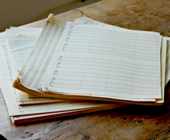 more sheet music dumpster save redouxinteriors